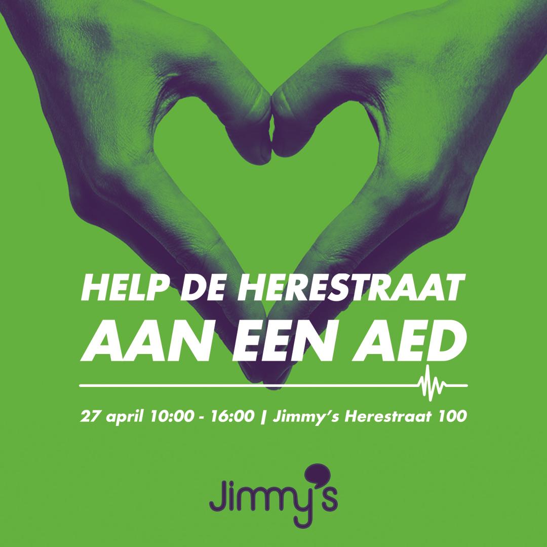 Help de Herestraat aan een AED op Koningsdag!
